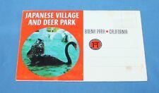 Rare Vintage Japanese Village & Deer Park Buena Park CA Picture Post Card Folder