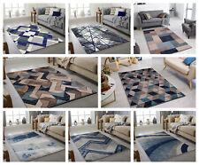 MODERN DESIGN RUG BLUE SOFT LARGE LIVING ROOM FLOOR BEDROOM CARPET RUGS