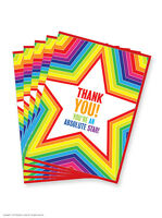 Thank You Thanks Star Greeting Card Funny Novelty Humour 5 10 20 Multi Pack