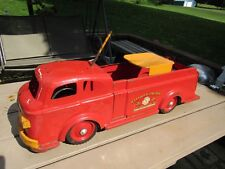Vintage Wyandotte Fire Truck, Ride On Toy Vehicle, Pressed Steel 1950s