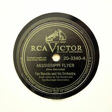"""TEX BENEKE & HIS ORCHESTRA """"Mississippi Flyer"""" VICTOR 20-3340 [78 RPM]"""