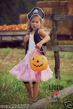 ⭐️New Halloween pettiskirt Pirate vest skirt costume tutu 6-9 years girl Large⭐️