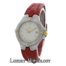 Authentic Ladies Ebel Sportwave E6087621 18K Gold Steel Date Quartz 28MM Watch