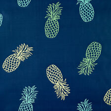 Blue Pineapples PVC Vinyl Oilcloth Wipeclean Tablecloth Samples Available