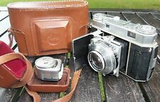 Kodak Retina IIa 35mm Rangefinder Camera & Kodalux Meter Leather Case Vintage