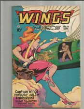 Wings 73 (1946)  CLASSIC GOLDEN AGE GOOD GIRL COVER!!   SCARCE!!!