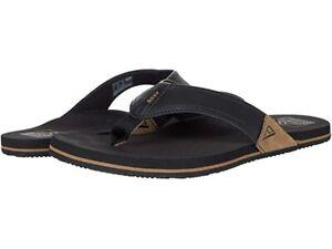 Reef Men's Newport Flip Flops Sandals - Black NWT