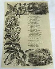 1882 magazine engraving + poem ~ SUMMER LONGINGS, poem by D. Florence M'Carthy