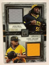 2020 TOPPS MUSEUM COLLECTION JOSH BELL / CHRIS ARCHER DUAL JERSEY #/50 PIRATES