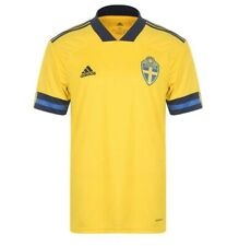 More details for men's brand new sweden home football shirt jersey 2020/21  size s-xxxl