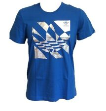 Adidas Originals Trefoil Blue and Silver Mens Inversion T-Shirt New with Tag