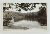 Postcard RPPC The Lake at Cumberland State Park Crossville Tennessee Dock Pier
