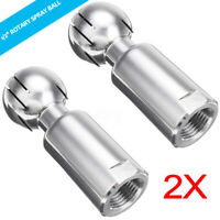 2X 1/2'' Stainless Steel Rotary Spray Ball Female Thread CIP Tank Cleaning