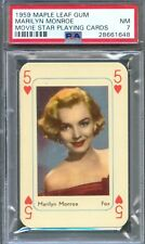 1959 Maple Leaf Gum MARILYN MONROE Playing Card 5 of Hearts PSA 7 Rare!!