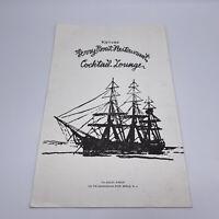 Vintage Kalivas' Ferry Boat Restaurant Menu Brielle, NJ