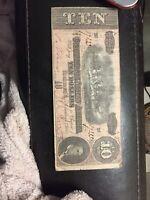 1864 Confederate States of America $10 bill
