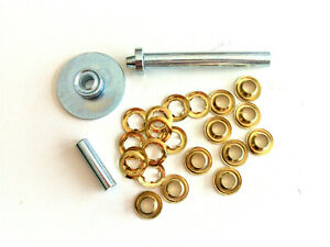 """3/8"""" x 1/4"""" deep 23 pc GROMMET KIT Includes PUNCH - Tarps - Tents - Awnings"""