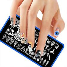 Halloween DIY Nail Art Image Stamp Stamping Plates Manicure Template New