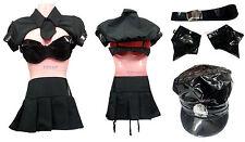 Adult Women Police Cop Costume Halloween Uniform Fashion Outfit Fancy Dress Set