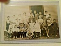 Antique  real photo post cards Ohio school barefoot boys 1904-1920