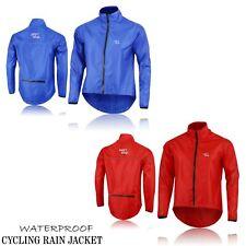 Men's Cycling Waterproof Rain Jackets High Visibility Running Top Coat NEW