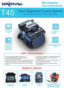 Orientek T45 Core Alignment Fusion Splicer FTTH Tool Kit Fiber Optics FREE SHIP