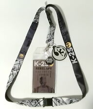 K-2S Enforcer Droid Star Wars Deluxe Lanyard w Rubber Charm & ID Card-Licensed
