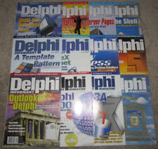 Lot of 12 Vintage DELPHI INFORMANT Magazines 1999 Vol. 5 COMPLETE/Full Year RARE