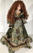 "Show Stoppers Victorian Porcelain 26.5 Inch Doll ""Felicia"" Beautiful Red Hair"