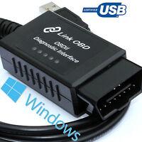 ELM327 USB modified fits Fiat OBD2 diagnostic code reader reset tool