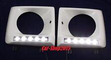 HEAD LAMP LIGHT COVER+LED DRL FRAME FOR MERCEDES W463 G500/G350/G63 WHITE