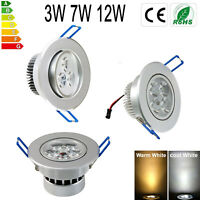 6PCS 3W/7W/12W LED Ceiling Down Light Fixture Recessed Lamp Spotlight 110-220V
