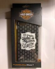 Harley Davidson iPhone 7 Black TPU Protective Cell Phone Cover. New In Box.
