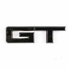Gloss Black GT Emblem Badge For 2015-19 Ford Mustang  Trunk Decklid Replacement