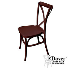 Chocolate Dover Cross Back Chair (Price is for 4 chairs) - RXBCHOC
