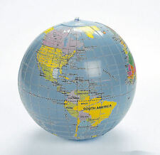 Inflatable World Globe Teacher aid Educational EARTH MAP Beach ball