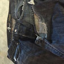 Seven 7 for all mankind relaxed   button  fly  Jeans 34 waist 34x35 men's
