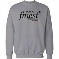 Christmas Gift Funny Jumper Tesco FINEST Xmas Sweater Mens & Ladies Present
