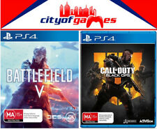 Battlefield 5 V & Call of Duty: Black Ops 4 PS4 Game Bundle New