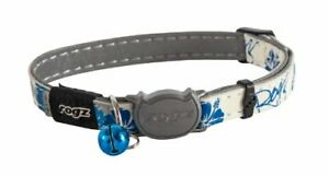 Rogz Glow in the Dark Reflective Cat Collar with Breakaway Clip and Removable...