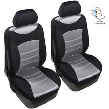 black +gray Car Breathable Mesh Seat Covers Front 2 Seat Fit airbag easy install