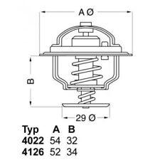 WAHLER Thermostat, coolant 4022.88D