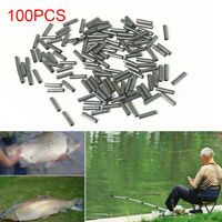 100Pcs Single Copper Fishing Crimp Sleeves Tube Wire Leader Sleeve 1.0-3.0MM-