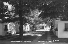 RPPC PETERSON'S CABINS Munising, Michigan Roadside ca 1950s Vintage Postcard