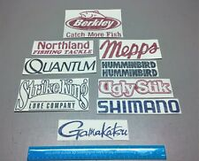 Fishing decals, 10 fishing stickers, tackle lure rods ugly stik, boat decal