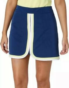 Lady Hagen Womens Size 2 Water Color Colorblock Golf Skort Navy Estate Blue NWT