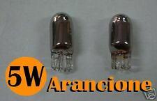 COPPIA LAMPADINE LAMPADE CROMATE FRECCE LATERALI T10 T 10 5W W5W ARANCIO