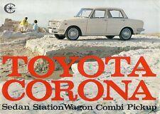 Toyota Corona 1500 1965-66 UK Market Sales Brochure Saloon Estate Combi Pick-Up