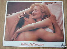 Jessica Lange WHEN I FALL IN LOVE(1989) Original US lobby card