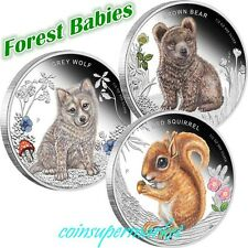 2013 Australia Forest Babies 1/2oz Silver Proof Three-Coin Bundle The Perth Mint